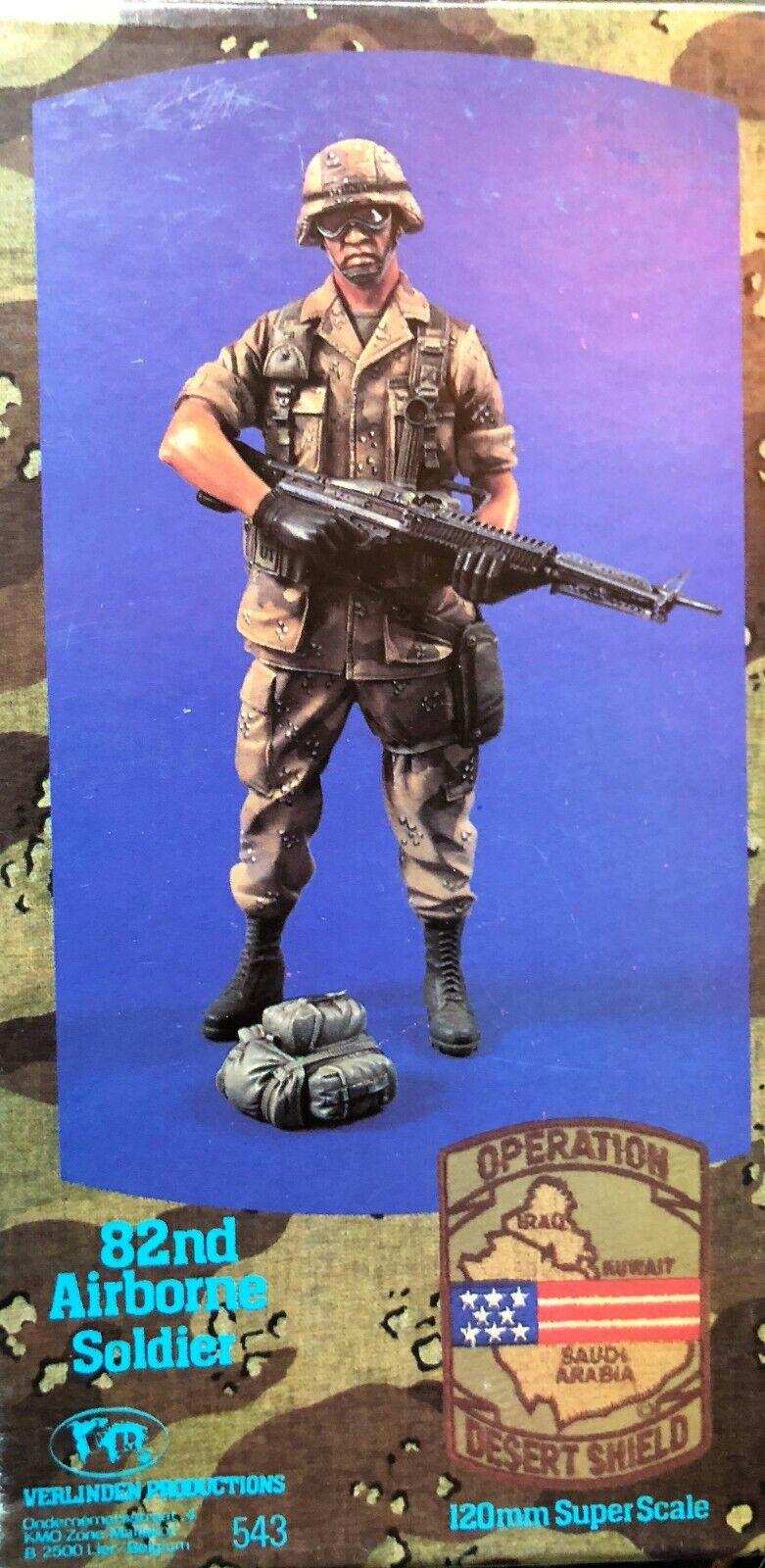 120MM 1 16 RESIN FIGURE VERLINDEN 543 US 82ND AIRBORNE SOLDIER. NEW.