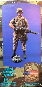 Figurine en résine 120mm 1/16 Verlinden 543 Us 82ème soldat aéroporté.   Nouveau.
