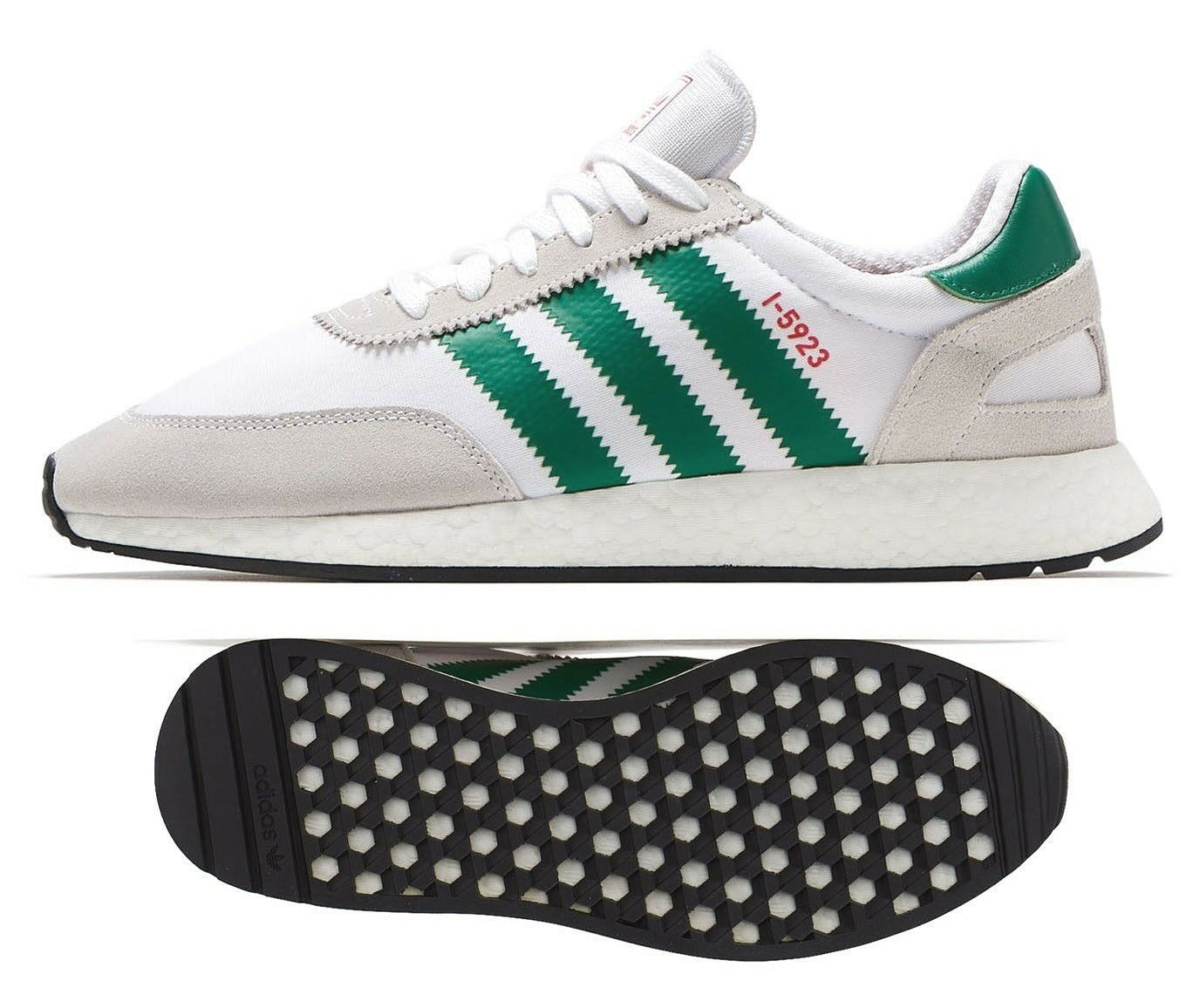 Nuevas Adidas Originales Iniki I-5923 Zapatillas para hombre verde blancoo Todas Las Tallas