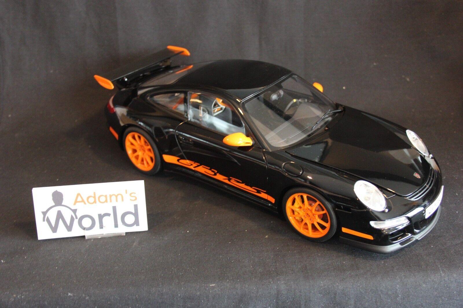 AutoArt Porsche Carrera GT3 RS 1 12 negro   naranja
