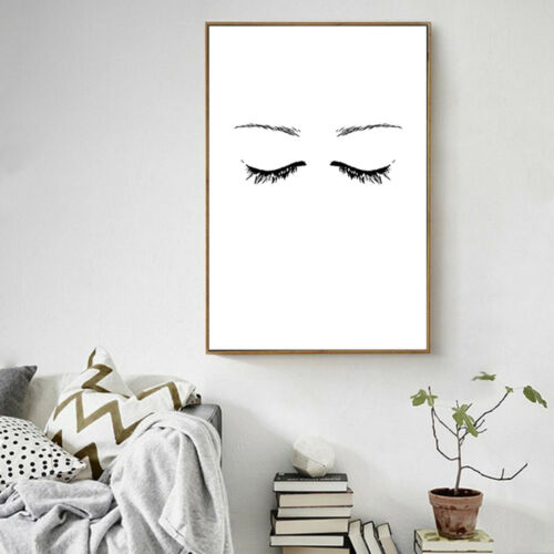 Abstract Face Canvas Poster Nordic Minimalist Art Prints Wall Home Decor