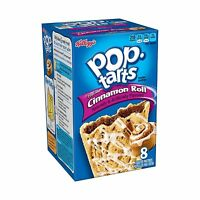 Pop-tarts Frosted Cinnamon Roll 8-count Tarts (pack Of 12) Free Shipping