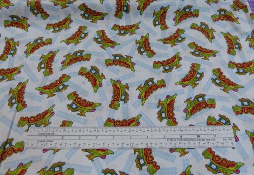 Buddy/'s Big Adventure Train Fabric Quilting Treasures BTY 100/% Cotton
