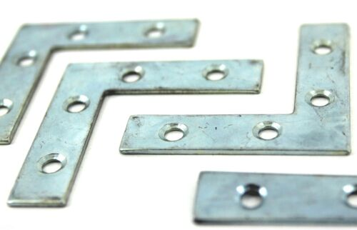 Zinc Plated Furniture Wood CORNER PLATE Brace Bracket 75 mm /& 100 mm