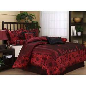 Great Image Is Loading Deep Wine Red Comforter Bed Set Queen Size