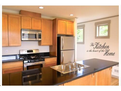 """KITCHEN IS THE HEART Vinyl Wall Decal Home Decor Lettering Words Quote 24/"""""""