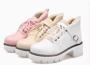 ba971fafbcd99e Bottines Chaussures de Sport Lacets Blanche Rose Beige Cuir ...