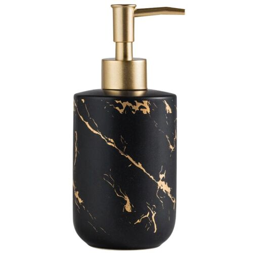 Luxury Ceramic Bathroom Accessory Set Marble Soap Dispenser Pump Bottle