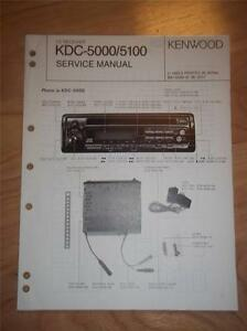 kenwood service manual kdc 5000 5100 cd receiver player car audio rh ebay com Kenwood Car DVD Player Car Stereo DVD Player
