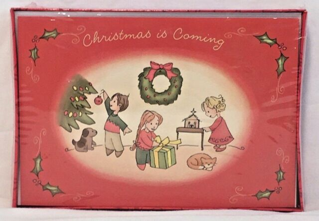 Boxed Christmas Cards.Vintage Dayspring Boxed Christmas Cards 18ct W Envelopes Christmas Joy Cj51649