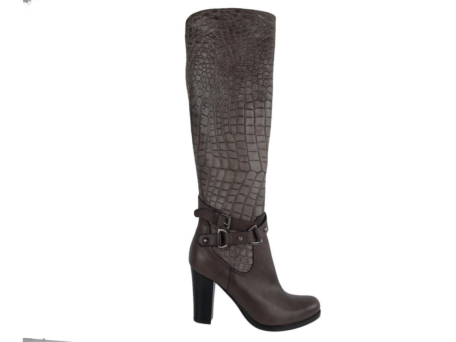 Napoleoni Italian Fashion Croco Boots EU 36 Womens shoes Heels