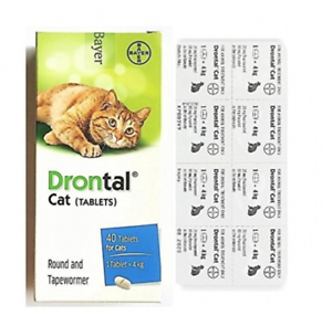 12-Tablets-Bayer-Drontal-For-Cats-And-Kittens-Dewormer-Best-Quality-Price-Offer