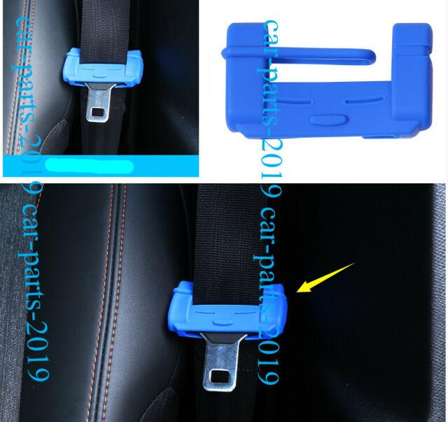 4PCS Blue Door Seat Safety Belt Buckle Cap Cover Trim For