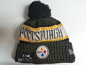 a86934ed Details about Pittsburgh Steelers New Era Knit Hat On Field 2018 Sideline  Beanie Stocking Cap