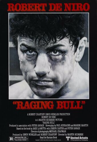 Raging Bull 1980 Rober De Niro Retro  Movie Poster A0-A1-A2-A3-A4-A5-A6-MAXI 317