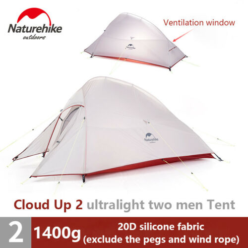 1-2-3 Person Upgrade Self-standing Waterproof ultralight Camp Double layer Tent