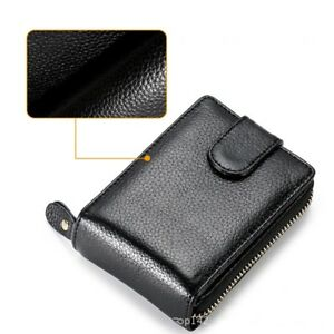 Men-039-s-Genuine-Leather-Clutch-Wallet-ID-Bifold-Business-Credit-Card-Holder-Purse