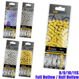 Sports-8-9-10-11-Speed-Bike-Chain-MTB-Road-Racing-Bicycle-Hollow-116L-Cycling