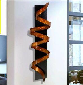 Modern Metal Wall Art ULTRA COOL Copper Twist Sculpture Signed Art Jon Allen
