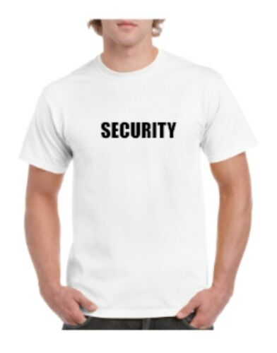 New High Quality Black OR White Security T-shirt For Party Work Uniform bouncer