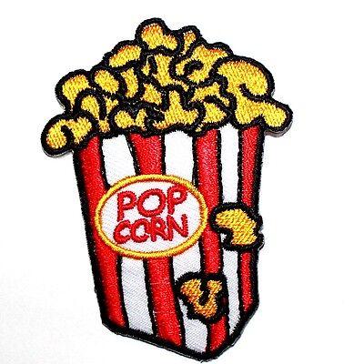CUTE Cartoon Black Popcorn Movie Snack Food Kids Gift T-Shirt Cap Iron on Patch