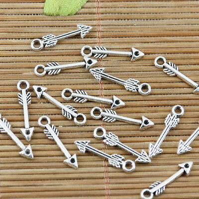 100pcs tibetan sivler color little arrow design charms EF2356