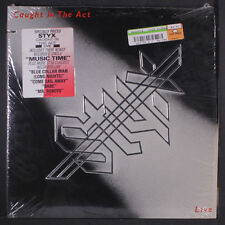 STYX: Caught In The Act - Live LP (2 LPs, inner sleeves, saw mark, title tag on