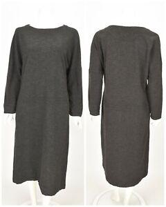 Womens-OSKA-Shift-Tunic-Dress-Long-Wool-Blend-Grey-Oversized-Size-1-UK8-S