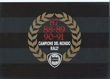 Lancia Delta HF Integrale Martini 1991 Brochure Campione Del Mondo Turbo GTie LX
