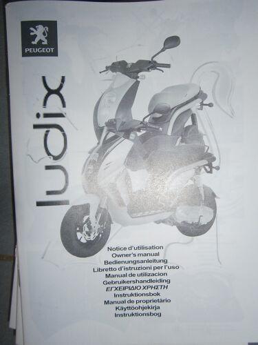 Peugeot LUDIX 50 2005.. notice d/'utilisation