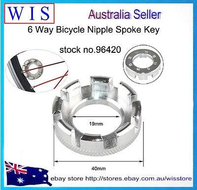 Bicycle Cycling Bike Wheel Spanner Wrench 6 Key Way Spoke Adjuster Repair Tool