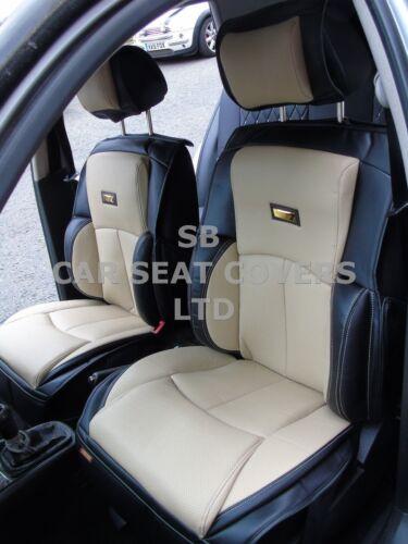 YS01 RECARO SEMI FIT A FIAT 500C i CAR SEAT COVERS CREAM//BLACK