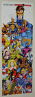 1991 Marvel X-Men poster:Wolverine/Rogue/Gambit/Psylocke/X-Force/Cable/Jim Lee +