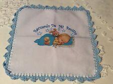 "Baby Infant Baptism Cloth Christening ""Recuerdo De Mi Bautizo"" Spanish 11"" X 11"""