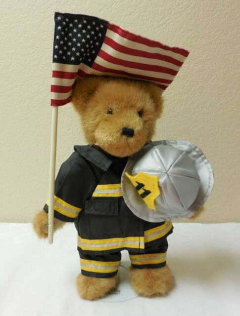 "Boyds Bears 10/"" Commemorative Sept 11th Fireman Bear"