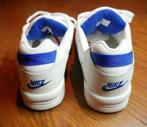 Details about Vintage Nike Airliner Sneakers Leather White Royal Blue Dead Stock 1996 Mens 11