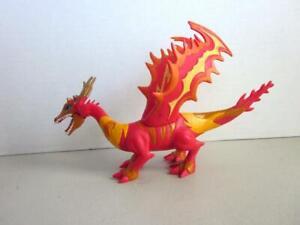 SDE-Shantou-Chine-PVC-Or-Jaune-Rose-Dragon-Figure-9-034-Long-ouvrir-fermer-la-bouche