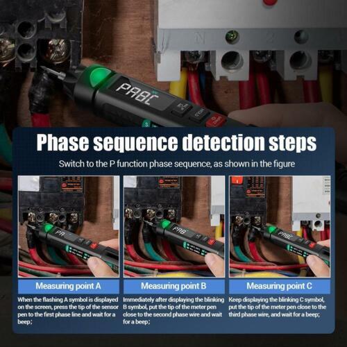Digital Multimeter Pen Voltmeter DC AC Voltage Meter Resistance Continuity Test