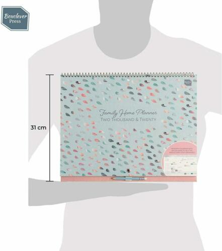 Boxclever Press Family Home Planner 2019 2020 Wall Calendar Personal Organizer