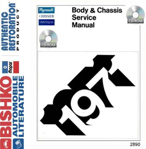 1971 Plymouth /& Chrysler Shop Service Repair Manual CD
