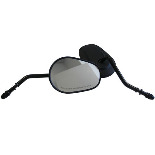 BLACK TAPERED TEARDROP REARVIEW MIRRORS FOR HARLEY DYNA SPORTSTER 883 1200 IRON