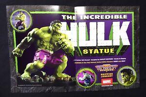 Incredible-Hulk-Statue-Poster-Promo-New-2001-Bowen-Designs-Marvel-Comics