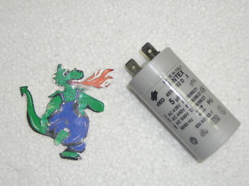 Buderus Kondensator 5µF 450 V Ref 87185728350  für DE RE BDE BRE Brenner Motor