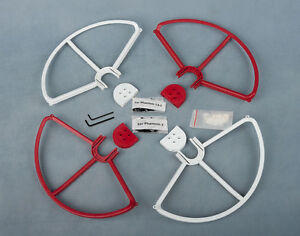 2RED-amp-2WHITE-SNAP-ON-OFF-PROP-GUARDS-QUICK-RELEASE-DJI-PHANTOM-1-2-3-PRO-VISION