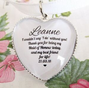 Image Is Loading Maid Of Honour Thank You Best Friends Quote
