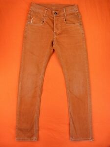 2c5af82ef02c9 G STAR RAW Jean Homme Taille 28 X 32 - Modèle New radar slim Orange ...