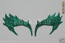 Poison Ivy Eyebrows Green Leaf Extreme Glitter eye mask costume Riddler Batman
