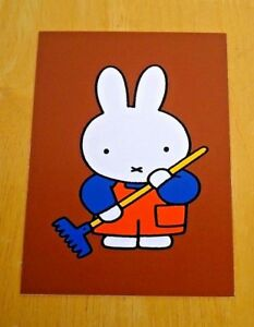 039-WITH-LOVE-FROM-MIFFY-039-POSTCARD-MIFFY-DOES-SOME-GARDENING-2004-DICK-BRUNA