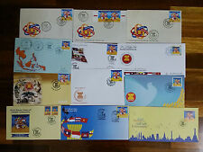 Full set ASEAN Community Joint Issue First Day Covers 2015 Lao Cambodia Myanmar