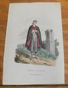 1813 Antique Print of Austria Costumes///ECCLESIASTICAL WOMAN